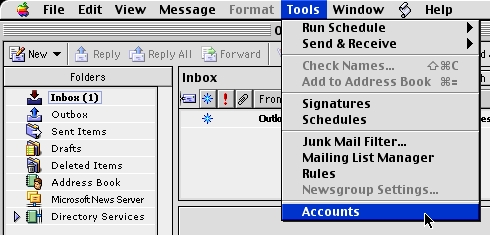 Check Existing Account Settings - Macintosh - Outlook Express 5 0 6