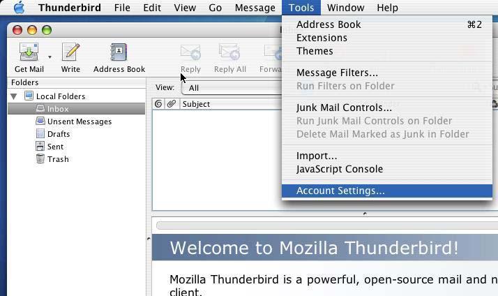 mozilla thunderbird mail location windows 7
