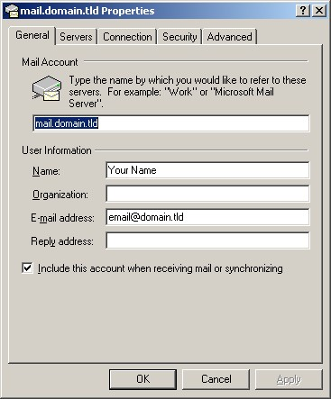 Check existing account settings outlook express 6 00
