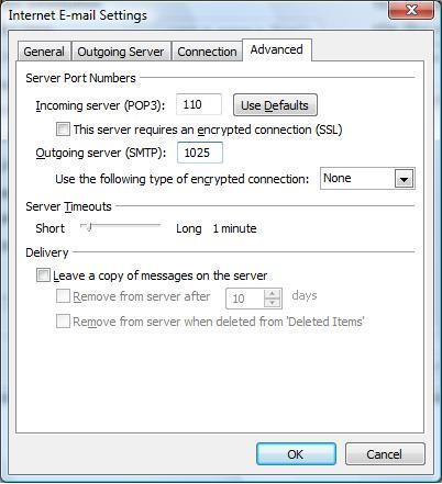 how to change smtp settings