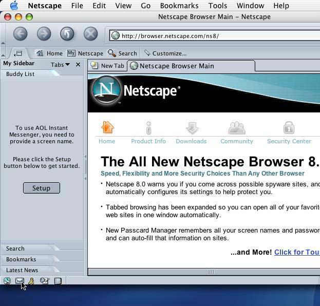 netscape 7.2