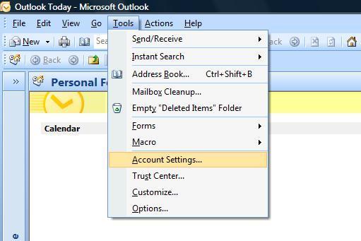 Neues Konto einrichten - Microsoft Outlook 2007